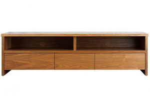 Wooden TV console with 3 drawers