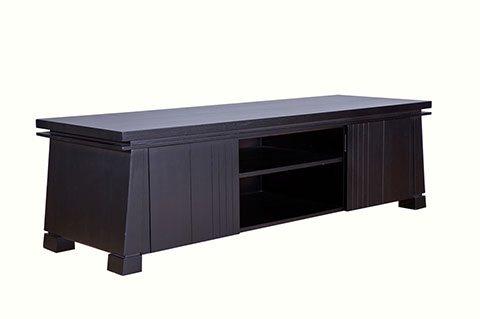 Japanese style wooden TV console