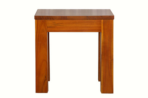 teak color side table