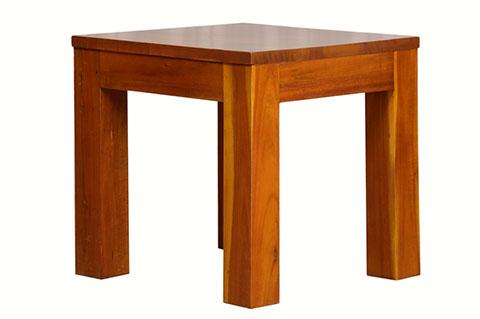 Teak color side table