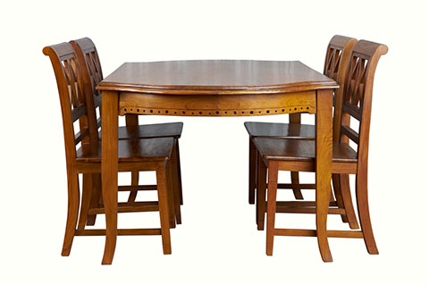 Solid Teak vintage design dining set