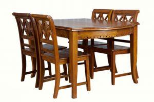 Solid Teak vintage design dining set