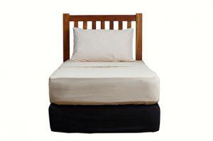 Solid teak stripe head board for bed