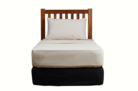 Solid teak stripe head board for bed