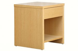 oak natural color ply wood bed side table with 1 drawer