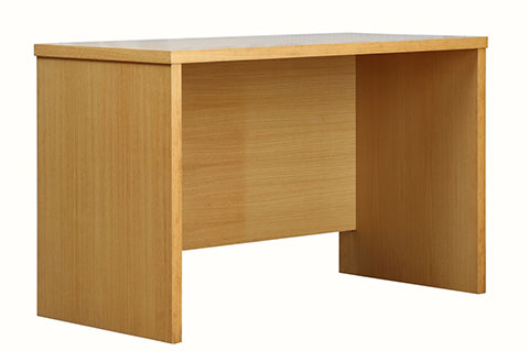 Writing table, wooden desk, natural color