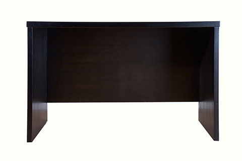Writing table, wooden desk, dark color