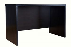 Writing table, wooden desk, walnut color
