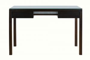 thin writing table with glass top suitable for small space