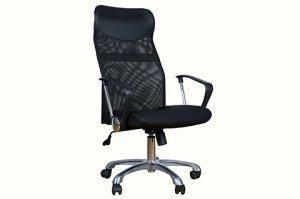 High mesh back executive chair black color