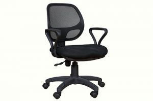 low mesh back executive chair black color