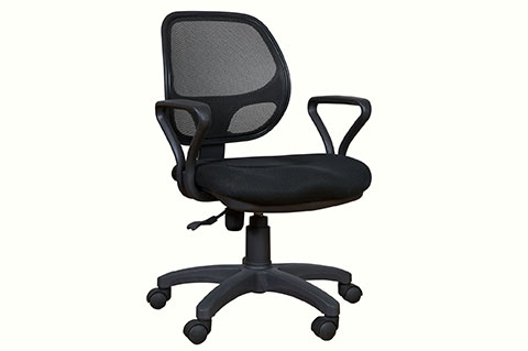 low mesh back executive chair black color