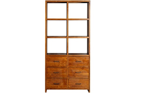 Solid teak premium design tall display shelf