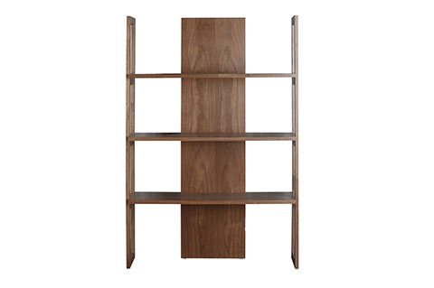 Display shelf unique design ply wood american walnut color
