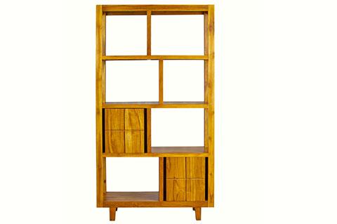 Display shelf solid teak wood