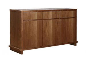 ply wood american walnut color buffet sideboard