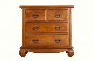 solid teak wood chest of drawers