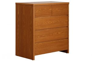 Teak color ply wood chest of drawers