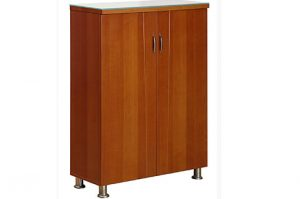 Shoe rack brown color with glass top