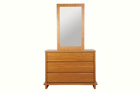 Dressing table natural color with mirror