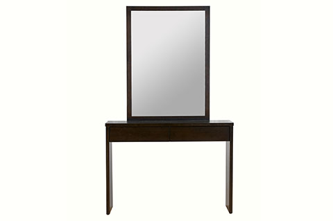 Dressing table walnut color with mirror