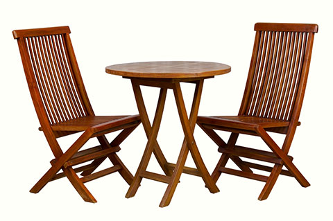 Solid teak wood outdoor table and chairs