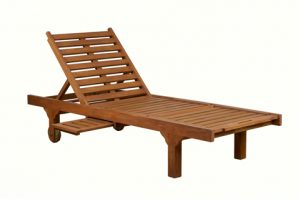 wooden solid wood sunlounger