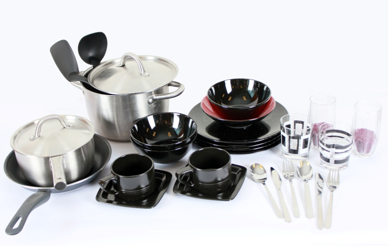 Home ware, pots, utensils