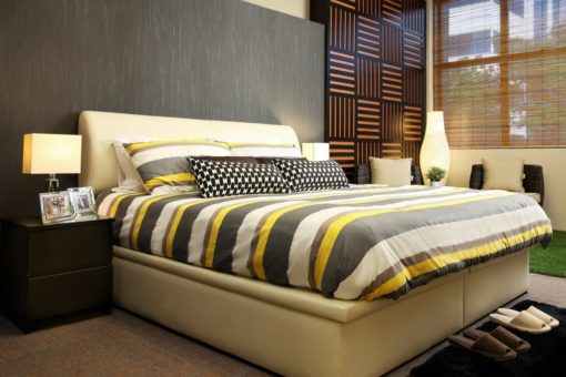 synthetic leather bed frame for double bed